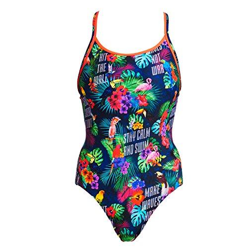 Funkita Badeanzug für Damen Tropic Tag aus chlorbeständigen Material, Damen Größen:36