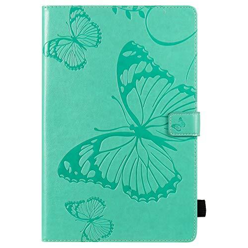 chenyuying Flor de Mariposa Floral Patrón de PU de Cuero de la Cartera de la Tableta de la Tableta para la Cubierta de la Galaxia S6 Lite SM- P610 P615 10,4 Pulgadas 2020 (Color : Green)