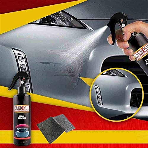 FMJHCW 2020 New 250ml Nano Car Scratch Removal Spray Fast Repair Scratches for Cars, with Nano Magic Cloth, for All Car Body