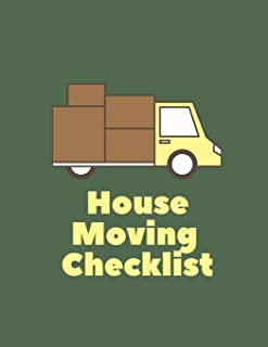 House Moving Checklist: Moving To Dos Notebook, House Moving Organizer, Planner for Moving House, House Moving Checklist, Moving Checklist Notebook (8.5 x 11 inches)