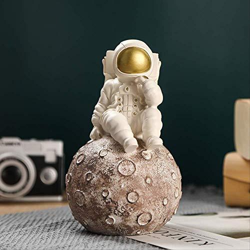 PET HOUND Lifestyle Moderne Figurine Statues Accessoires de décorationCosmonaute Sculpture Décor Miniatures Modèle Figure Figurines ArtisanatUtilisé pour la décoration de Bureau à Domicile