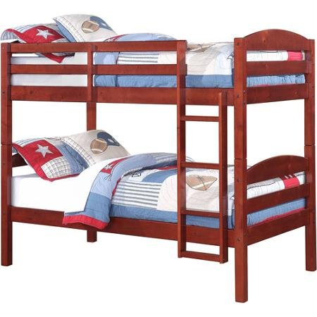 Better Homes & Gardens Leighton Wood Twin-Over-Twin Bunk Bed, Mocha