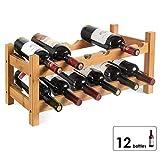 Homfa Botellero Vino Estantería de Vino Estante del Vino para Salón Cocina Comedor para...