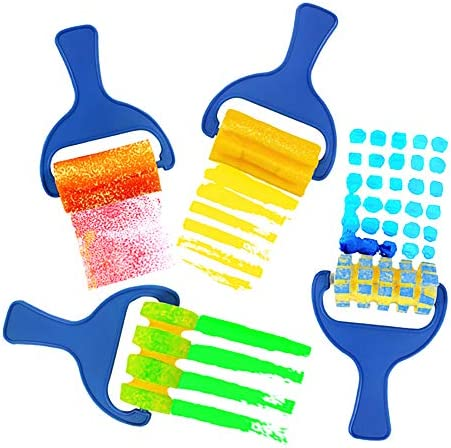 Painting Foam Brush Roller Sponge for Kid Mini Paint Brushes DIY Art Craft Painting Tool Set product image