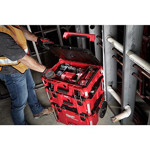 Heavy Duty, Versatile And Durable Modular Storage System PACKOUT 22 in.Tool Box By Milwaukee, Interior Organizer Trays, Heavy Duty Latches