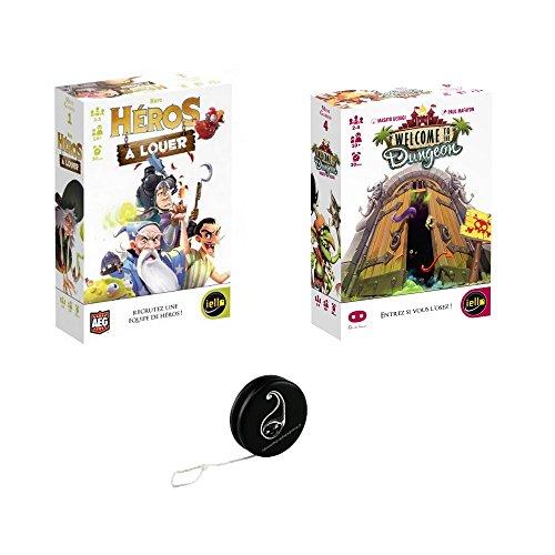 Lot de 2 Jeux : Héros à louer + Welcome to The Dungeon + 1 Yoyo Blumie