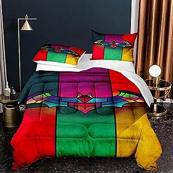 Marvel Avenger Batman Bedding Full Size Set Superhero Comforter Sets Colorful Quilt Set,1 Comfoter +2 Pillowcase