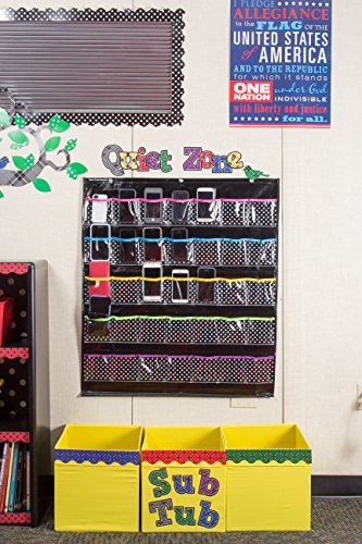 Teacher Created Resources Black Polka Dots Storage Pocket Chart (20750) Photo #3