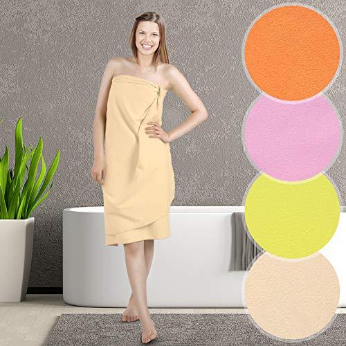 Jago Asciugamano morbido microfibra sport campeggio 180 x 90 cm colore & set a scelta (marrone 1 pezzo)