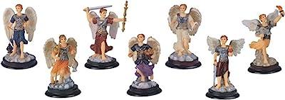 7.6cm Archangel Set Collection Holy Figurine Religious Decoration