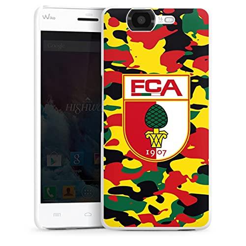 DeinDesign Hard Hülle kompatibel mit Wiko Highway Schutzhülle weiß Smartphone Backcover FC Augsburg B&esliga Fußball