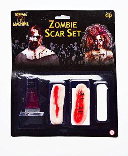 Zombie Halloween Cicatrice Ensemble Latex Sang Chair maquillage FX Déguisement Adulte Horreur