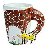 dingtian Taza de café regalo creativo de cerámica de café leche taza de té 3D animal forma animales taza