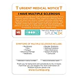 I Have Multiple Sclerosis Assistance Card 3 pcs