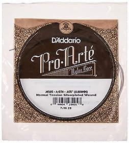 Cadena de reemplazo, hecha de nilón Adecuada para las cuerdas de guitarra D'Addario Pro-Arte EJ45 Proporciona un sonido cálido y equilibrado, con una buena proyección Los aros están enhebrados con un cordón de cobre plateado
