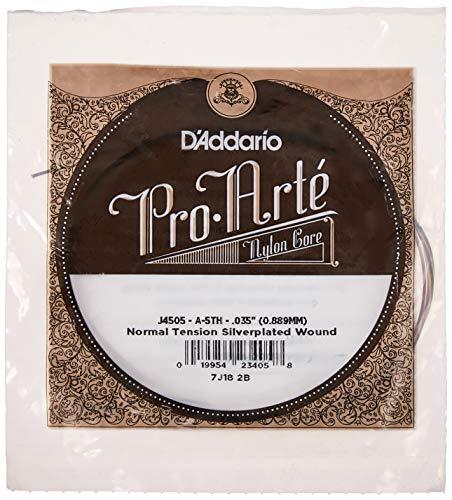 D'Addario J4505 Pro-Arte, cuerda individual de nailon para guitarra clásica, tensión normal, quinta cuerda