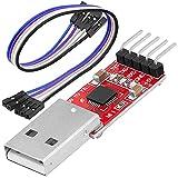 AZDelivery CP2102 USB a TTL Convertidor HW-598 para 3,3V y 5V con Cable Puente Jumper Compatible con Arduino con eBook Incluido