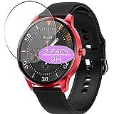 3枚 VacFun ガラスフィルム , LEMFO LF29 1.3インチ スマートウォッチ Smart Watch 向けの 強化ガラス フィルム 保護フィルム 保護ガラス ガラス スマートウォッチ と互換性のある 液晶保護フィルム 腕時計