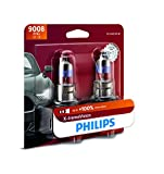 Philips Automotive Lighting 9008 X-tremeVision Upgrade Headlight Bulb with up to 100% More Vision, 2 Pack, 9008XVB2