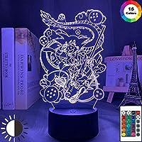 3DイリュージョンランプLEDナイトライトアニメドラゴンボール子供のための若い悟空アクリル子供部屋の装飾色を変えるギフト子供用睡眠ランプ