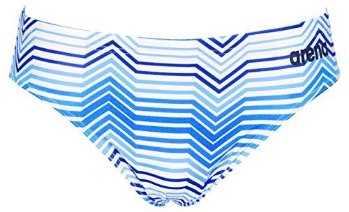 ARENA MaxLife Herren-Badeanzug, gestreift, Mehrfarbig, Herren, Badeanzug, Multicolor Stripes MaxLife Brief Swimsuit, Marineblau/Königsblau, 24