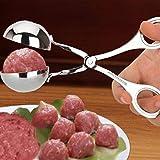 Edelstahl Fleischklöschenhersteller Form DIY Fischkugel Garnelen Ball gebratenes Rindfleisch Ball Pille Gadget Küche Artefakt (Farbe: S)