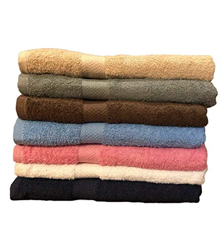 ECO Towels 6-Pack Bath Towels - Extra-Absorbent - 100% Cotton - 27' x 54' - Towels for Bathroom - Extra Large Bath Towel