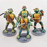 Tortugas Ninja 4PC Leonardo Da Vinci Michelangelo Donatello Raphael Figma Animado PVC Figura Caja 6.7'