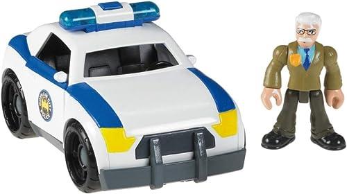 Imaginext Exclusive DC Super Friends Gotham City Collection Vehicle & Minifigure. Commissioner Gordon & Gotham City Police Car by Khamchaii