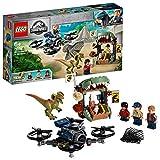 LEGO Jurassic World - Dilofosaurio a la Fuga Set de construcción de Aventuras con Figura de Dinosaurio, incluye un dron...