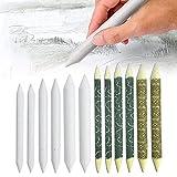 MJTCHE19 Sfumini da Disegno Matite Sfumino Matite per Sfumatura Carta Sfumino per Principianti Professionisti Artisti Studente Schizzo per Disegno a Matita 6 8 10 mm Diametro Bianca Giallo 12 Pezzi