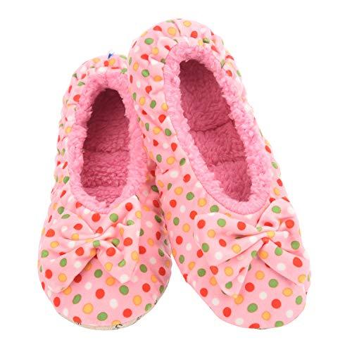 Snoozies Polka Dot Ballerina (Pink, Medium)