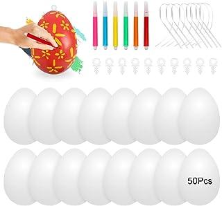 Oeufs de Paques Decoration, 50 œuf de Pâques,Oeuf de Paques a Decorer,Colorant Oeuf de Paques,Peinture Oeuf de Paques,Oeuf...