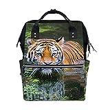 Animal Wild Tiger - Mochila para pañales, para mamá, mujer, bolsa de viaje, mochila grande para la escuela, portátil, senderismo
