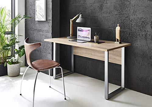 BMG-Moebel.de Büromöbel komplett Set Arbeitszimmer Office Edition Mini in Sonoma Eiche/Anthrazit Hochglanz (Schreibtisch)