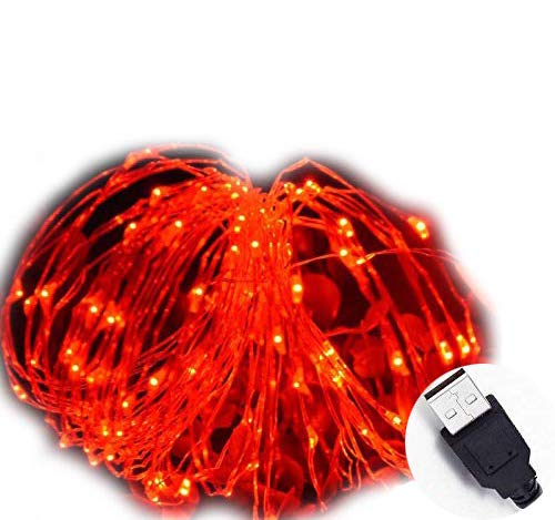 MSC - 33 ft / 10M - 100 * LED USB Powered Red Coloured String Fairy Lights On Copper Cable, Ideal for Christmas, Xmas, Party,Wedding,Decoration Red-USB1