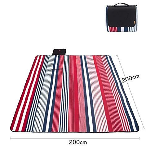 AJZGF Couverture de pique-nique pliante Grande couverture de pique-nique tapis de pique-nique rembourré épais tapis de jardin extérieur tapis de plage tapis de camping sauvage Tapis de voyage imperméa
