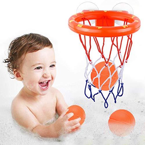 Sunshine smile Badewannenspielzeug, Wasserspielzeug Badespielzeug Baby,Baby Bade Spielzeug,Bad Spielzeug Für Kleinkinder,Mini basketballkorb für Jungen Mädchen Badespielzeug Set Geschenk