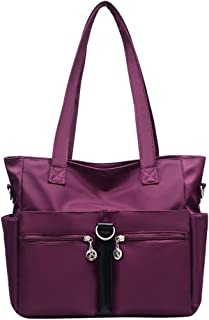 Fabuxry Women Casual Totes Handbags Shoulder Bags Purses Soft Nylon Bag
