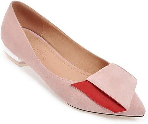 Sandalias zapatos De Tacón Bajo De Tacón Bajo De Moda para mujer Puntiagudas zapatos Solos (Color   C, Tamaño   43 EU)