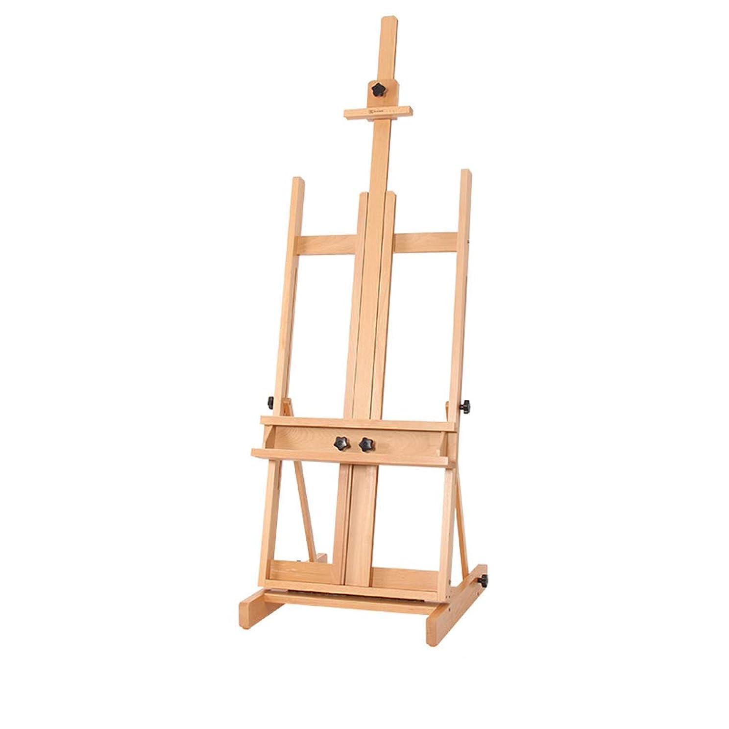 更新打倒発明GLJJQMY イーゼル純木ディスプレイスタンド木製フロアイーゼルリフトオイルイーゼル三脚 イーゼル (Color : A)