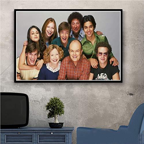 shiyueNB Kunst Leinwand Gemälde, die 70er Jahre Klassische TV-Serie Zeigen Freunde Filmplakate und drucken Wandbilder des Wohnzimmers Wohnkultur 50x70cm Kein Rahmen