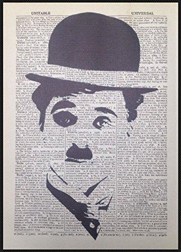 Charlie Chaplin Picture Original Vintage 1933 pagina di dizionario stampa artistica da parete