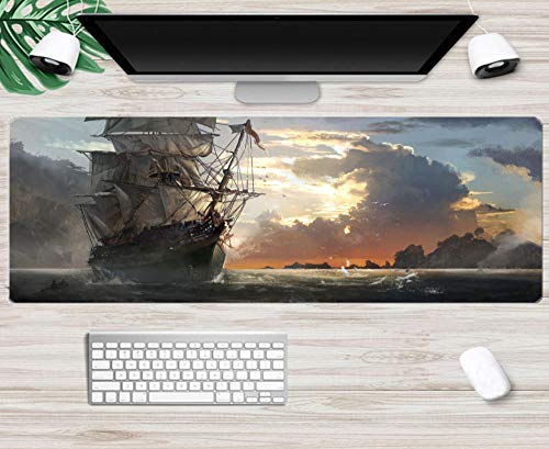 Mouse pad Sailing Pirate Ship Mouse pad Super Competitive Game Mouse pad Alternative Personality Cool Mouse pad Computer mat