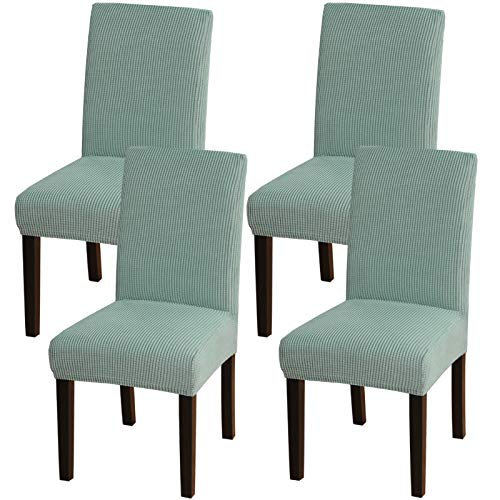 Turquoize Chair Covers For Dining Room Dining Chair Covers Set Of 4 Stretch Dining Chair Slipcover Parsons Chair Covers Removable Chair Protector Covers For Dining Room, Hotel, Ceremony (4, Dark Cyan)