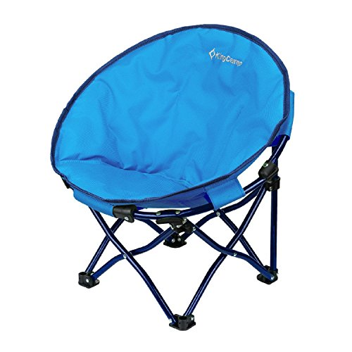 KingCamp Moon Saucer Chair Cute Round Mini Size Ultralight Portable Compact Folding with Safe Lock...