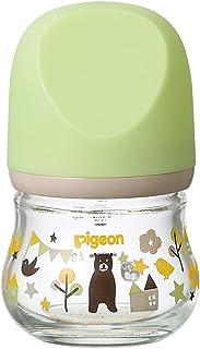 Pigeon 贝亲 妈妈喂养实感奶瓶 my Precious 耐热玻璃制 小熊图案 80ml 0个月开始 婴儿奶瓶可靠地支持妈妈喂养