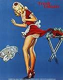 Fresh Lobster Blonde Waitress Pinched Retro Art Print Poster Masterprint MasterPoster Print, 11x14