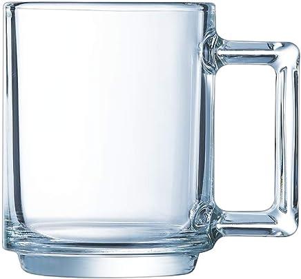 Preisvergleich für Luminarc 8021597luminarc-8021597-Tasse, 9 cl Hat die richtige Stunde, Glas, transparent, 7,5x 5x 6,5cm
