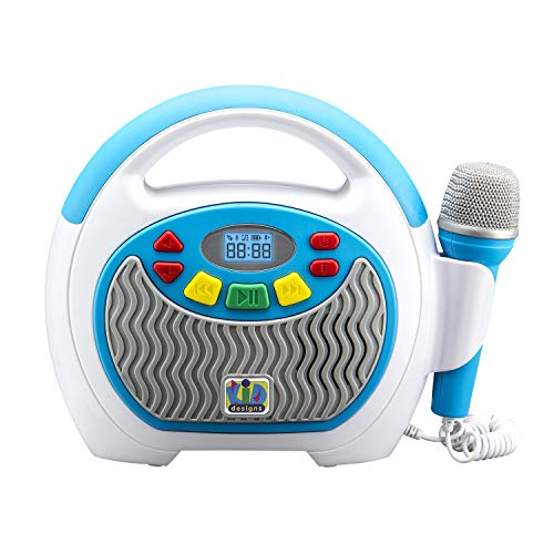 eKids KIDdesigns Mother Goose Club Bluetooth Sing Along Portable MP3 Player Real Mic 24 Songs Storesup to 16 Hours of Music 1 GB Built in Memory USB Port